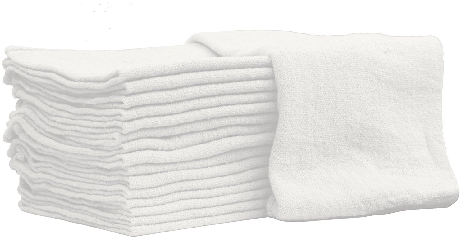 Auto-Mechanic Shop towels, Rags by Nabob Wipers 100% Cotton Commercial Grade Perfect for your Home,Garage & Auto 14x14 inches, 100 Pack