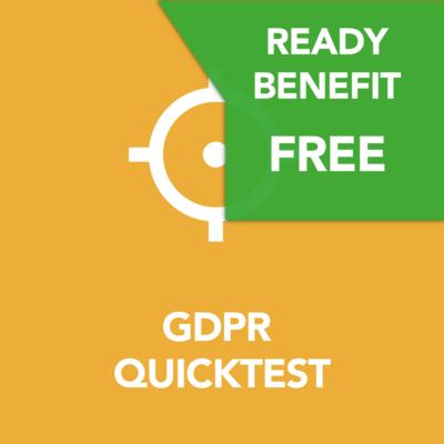 Gratis GDPR Quicktest voor READY members