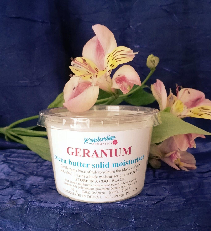 Cocoa butter solid moisturiser - Geranium