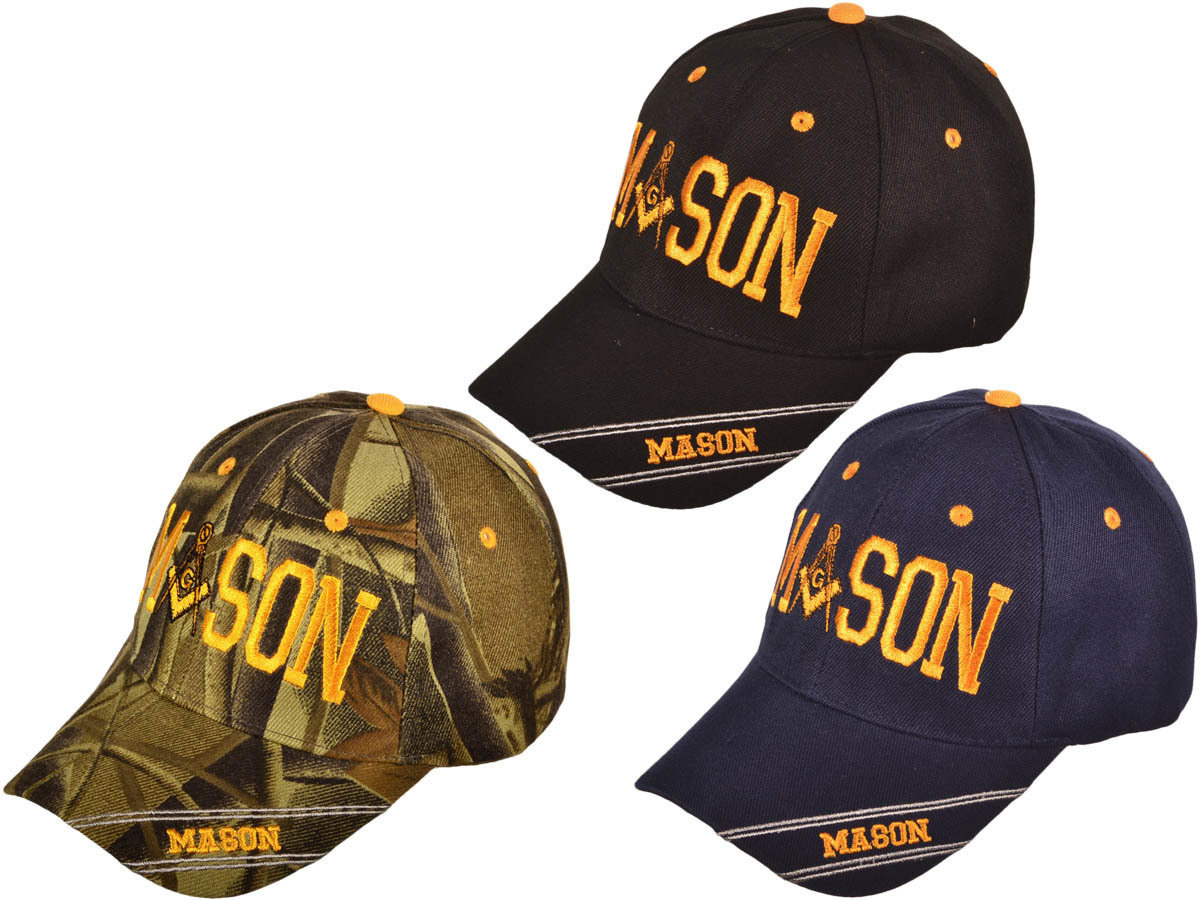 NAVY MASON BB CAP - GOLD EMBROIDERED - SIZE ALL