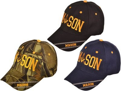 BLACK MASON BB CAP - GOLD EMBROIDERED - SIZE ALL