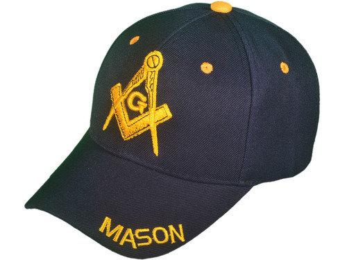 MASON EMBLEM BB CAP - EMBLEM EMBROIDERED GOLD ON NAVY - SIZE ALL
