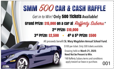 'SMM 500' Car & Cash Raffle