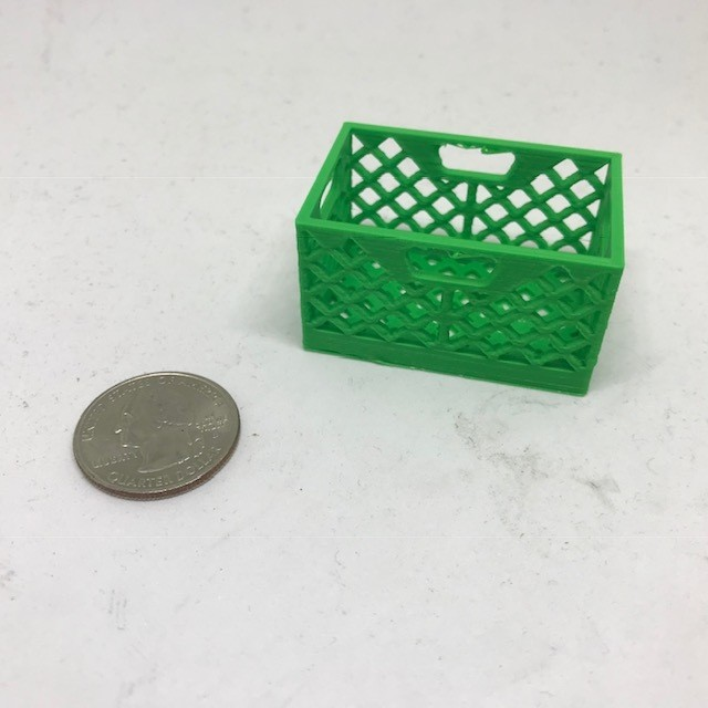 Scale Milk Crate (Green)