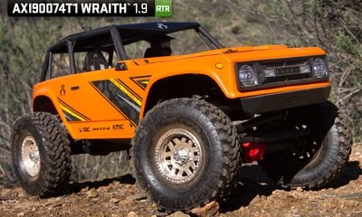 Axial Racing Wraith 1.9 1/10th 4wd RTR: Orange