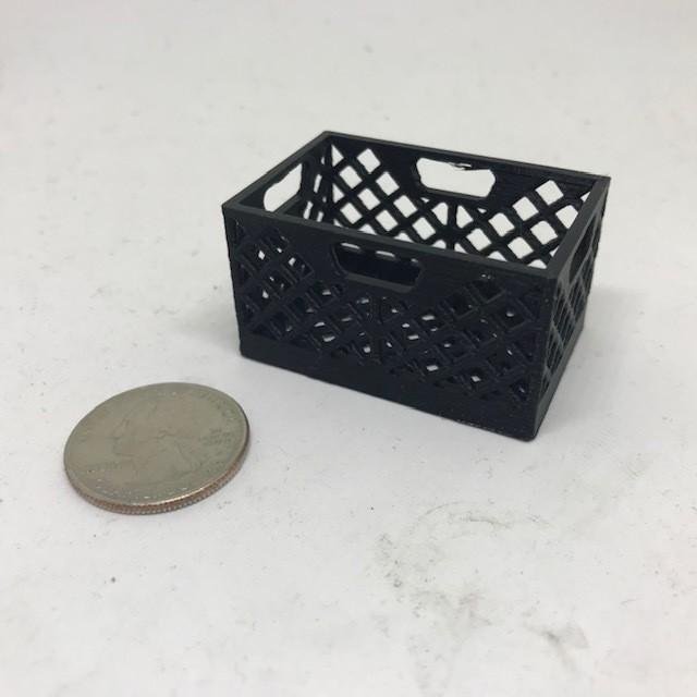 Scale Milk Crate (Black)