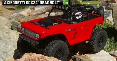 Axial 1/24 SCX24 Deadbolt RTR Scale Mini Crawler (Red)