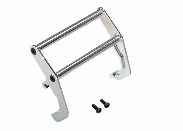 Traxxas Push bar, bumper, chrome (assembled) (fits #8137 bumper)