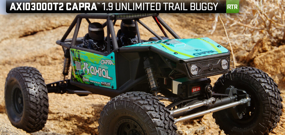 Axial Capra 1.9 Unlimited Trail Buggy 1/10 RTR 4WD Rock Crawler (Green)