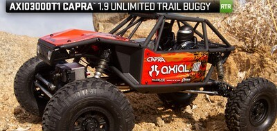Axial Capra 1.9 Unlimited Trail Buggy 1/10 RTR 4WD Rock Crawler (Red)