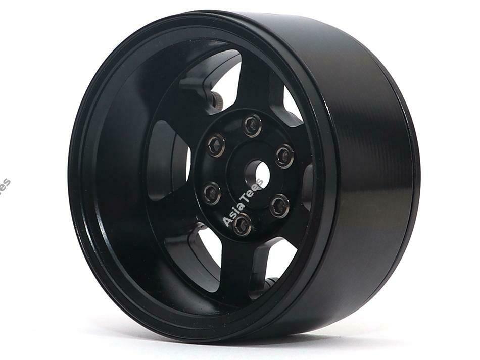 Boom Racing TE37XD KRAIT™ 1.9 Deep Dish Aluminum Beadlock Wheels w/ XT601 Hubs (4) Black