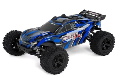 Traxxas Rustler 4X4 1/10 4WD RTR Stadium Truck (Blue) w/TQ 2.4GHz Radio & iD Battery & Charger