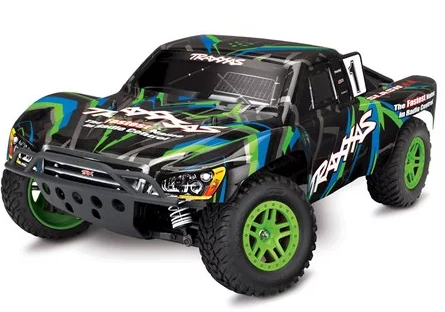 Traxxas Slash 4X4 RTR 4WD Brushed Short Course Truck (Green) w/TQ 2.4GHz Radio, Battery & DC Charger