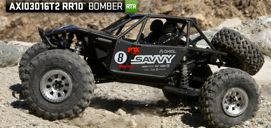 Axial RR10 Bomber 2.0 1/10 RTR Rock Racer (Grey) w/DX3 Radio