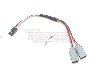 Team Raffee Co. Receiver Cable Wire 15cm w/ 2-Way Auxiliary Output