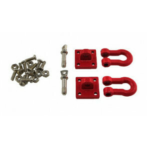Crawl Space 1/10 Crawler Scale Heavy Duty Shackle w/Mounting Bracket (Red) (2)