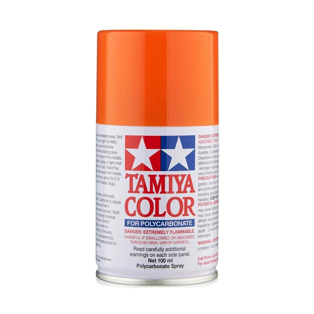 Tamiya PS-62 Pure Orange Lexan Spray Paint (3oz)