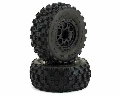 Pro-Line Badlands MX SC Tires w/Split Six Wheels (2) (Black) (Slash Front) (M2) w/12mm Hex