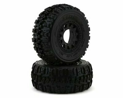 Pro-Line Trencher X SC 2.2/3.0 Tires w/Raid Wheels (Black) (2) (M2) w/12mm Removable Hex