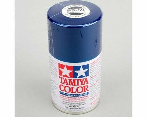 Tamiya PS-59 Dark Metallic Blue Lexan Spray Paint (3oz)