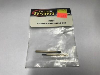 Team Associated FT Gold Shock Shaft, front, 0.80 in stroke