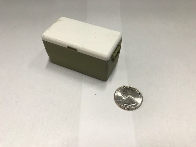 3D printed cooler with removable lid, medium. olive