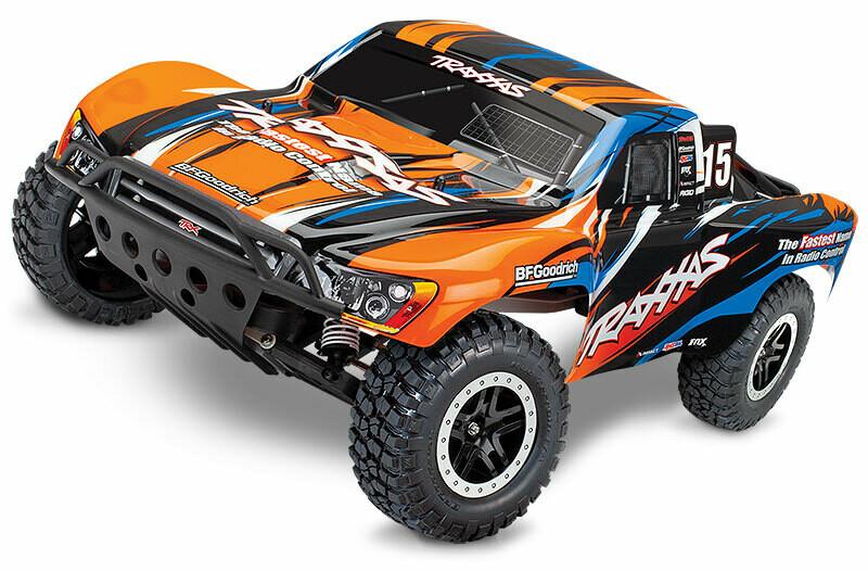 Traxxas Slash 1/10 RTR Short Course Truck (OrangeX) w/XL-5 ESC, TQ 2.4GHz Radio, Battery & Charger