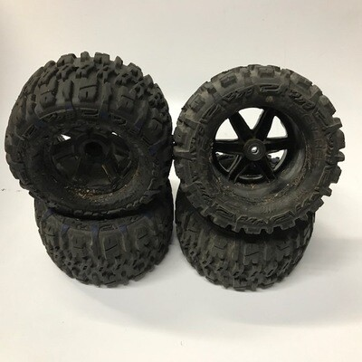 Proline Trencher 2.8 LP tires mounted to 2WD wheels. Used, sold as is. TY