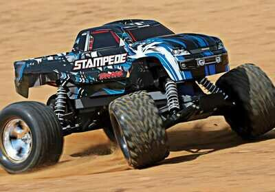 Traxxas Stampede®: 1/10 Scale Monster Truck. Ready-to-Race® with TQ 2.4GHz radio system and XL-5 ESC (fwd/rev)