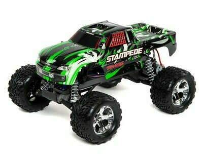 Traxxas Stampede 1/10 RTR Monster Truck (Green) with TQ 2.4GHz radio system and XL-5 ESC (fwd/rev)