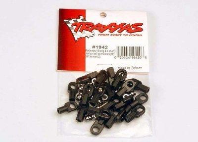 Traxxas Rod ends (16 long & 4 short)/ hollow ball connectors (18)/ ball screws (2)