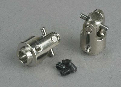 Traxxas Differential output yokes, hardened steel (w/ U-joints) (2)