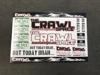 Crawl Space Sticker Sheet #1