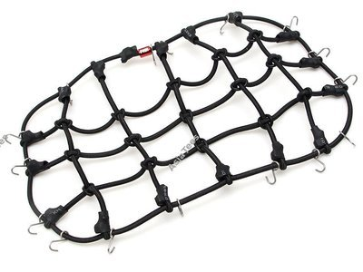 Team Raffee Co. Scale Accessories Elastic Luggage Net with Hooks 20x12cm