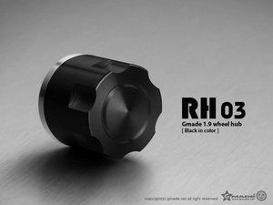 Gmade 1.9 RH03 Wheel Hubs (Black) (4)