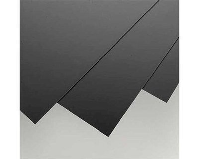 Evergreen Scale Models Black Styrene Sheets, .04x8x21
