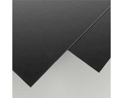 Evergreen Scale Models Black Styrene Sheets, .06x8x21