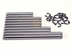 Traxxas Suspension pin set, hard chrome (w/ E-clips)