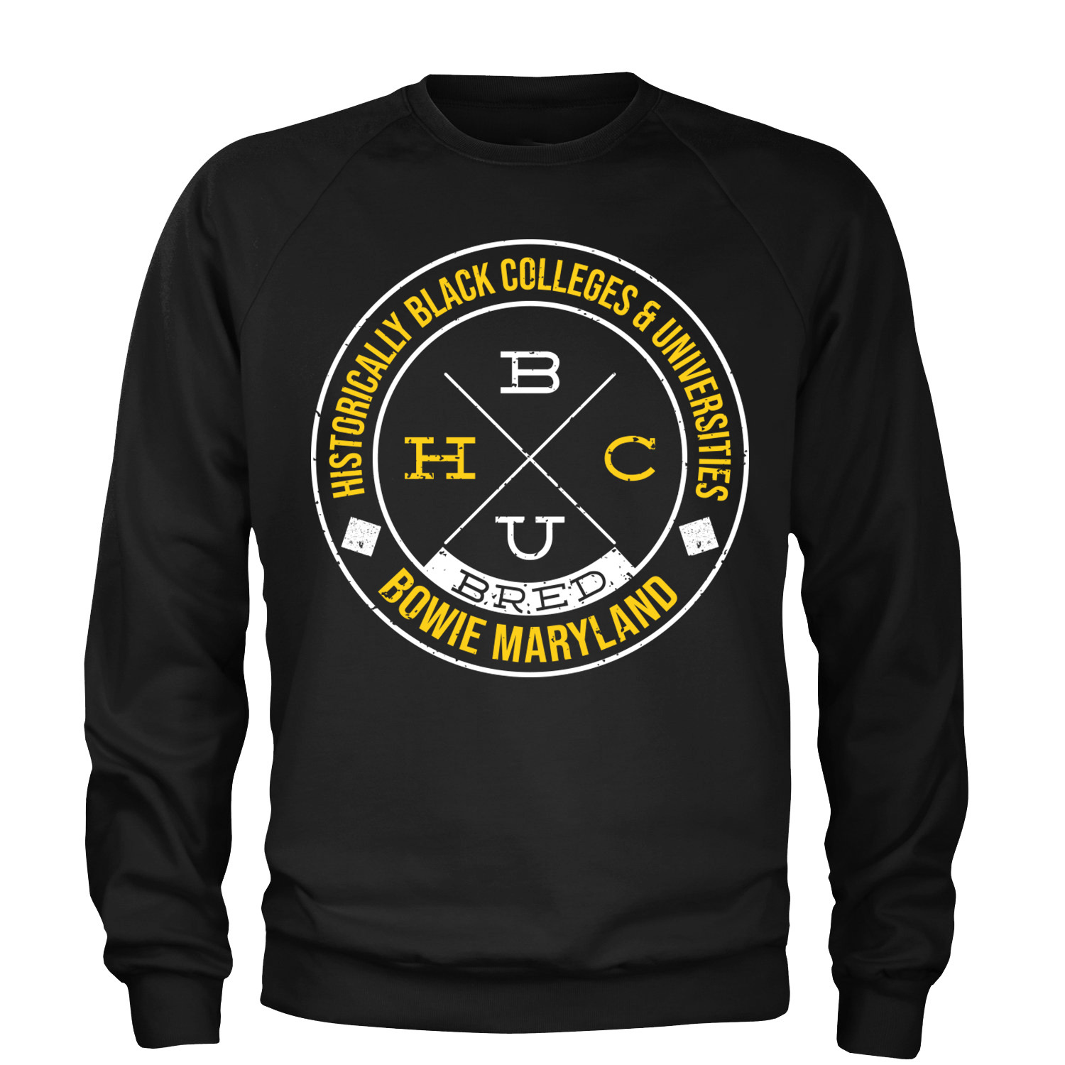 Crew Neck Sweatshirts  Black w/gold & white text (pre-orders only) 00001