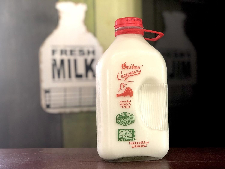 Apple Valley Creamery Glass-Bottled Milk (Assorted Varieties, 3 Sizes)* **