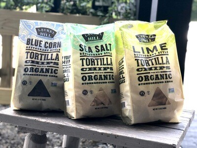 Laurel Hill Tortilla Chips (GMO Free, O) (Assorted Varieties)
