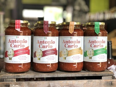 Antonio Carlo All Natural, Handcrafted Marinara Sauces (GF) (Assorted Varieties)