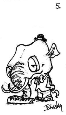 The Elephant with a Big Head