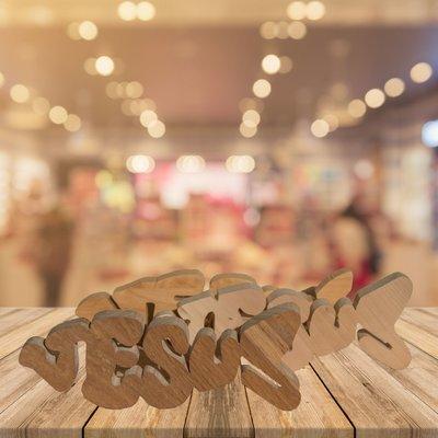 Jesus Holz Fisch