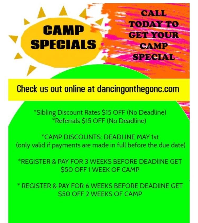 Camp Specials
