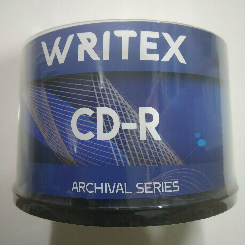 Writex Blank CD-R, Archival Series, Pack of 50-disk