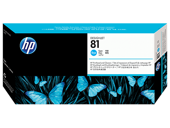 HP 81 Printhead, Cyan & Cleaner