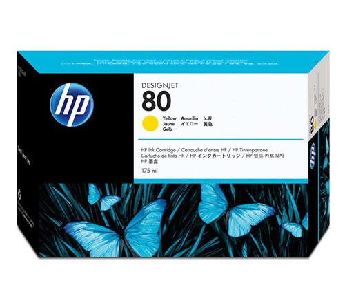 HP 80 C4873A 175-ml Ink Cartridge, Yellow