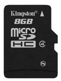 Kingston 8GB Memory Card, Class 4