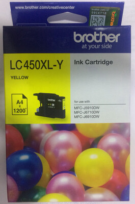 Brother LC450XL Ink Cartridge, Yellow